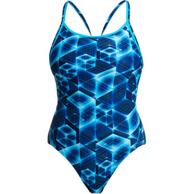 Funkita Diamond Back Traje Baño Una Pieza Mujer, azul